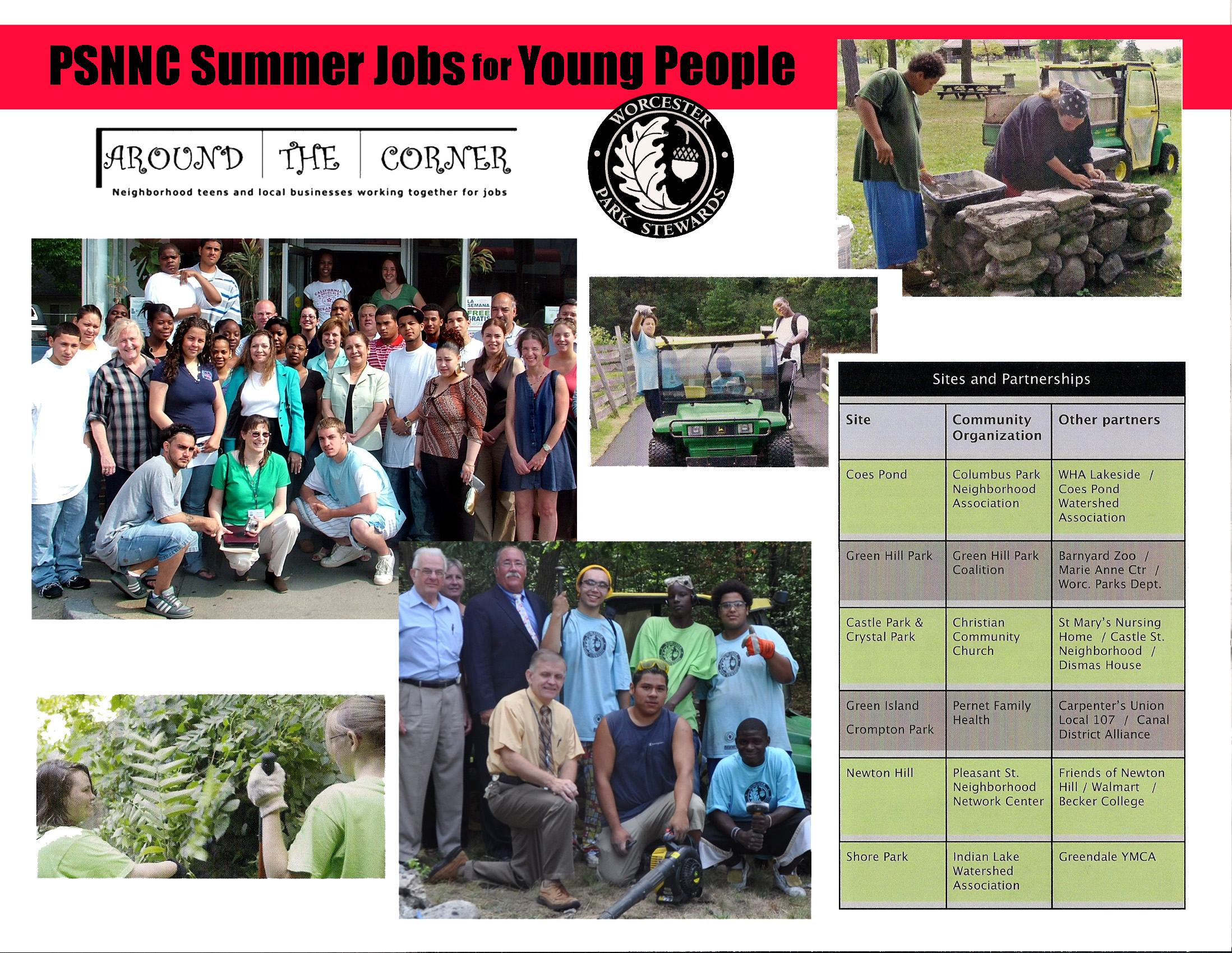 PSNNC Summer Jobs Photo page